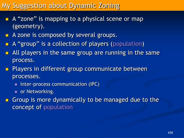 My Suggestion about Dynamic Zoning