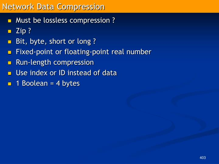 Network Data Compression