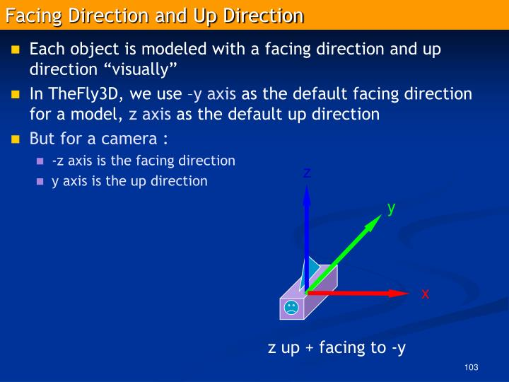 Facing Direction and Up Direction