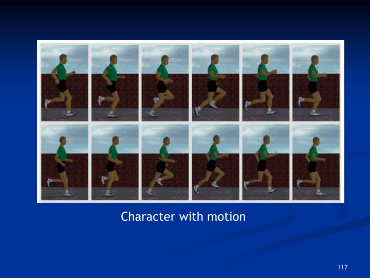 Character with motion