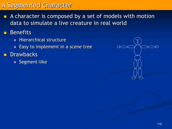 A Segmented Character