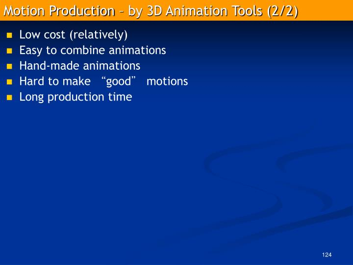 Motion Production – by 3D Animation Tools (2/2)