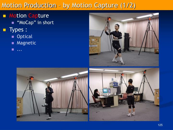 Motion Production – by Motion Capture (1/2)