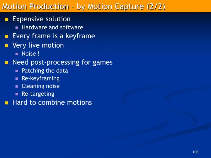 Motion Production – by Motion Capture (2/2)