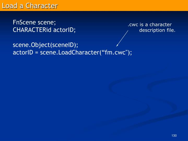 Load a Character