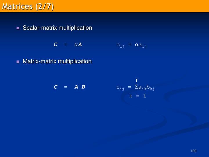 Matrices (2/7)