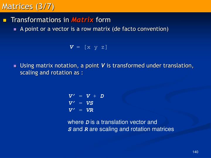 Matrices (3/7)