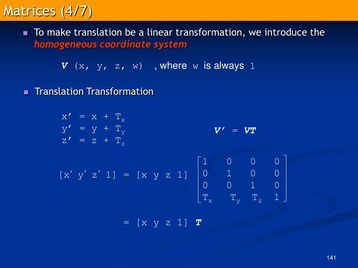 Matrices (4/7)