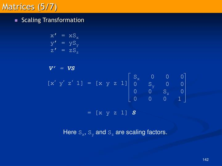 Matrices (5/7)