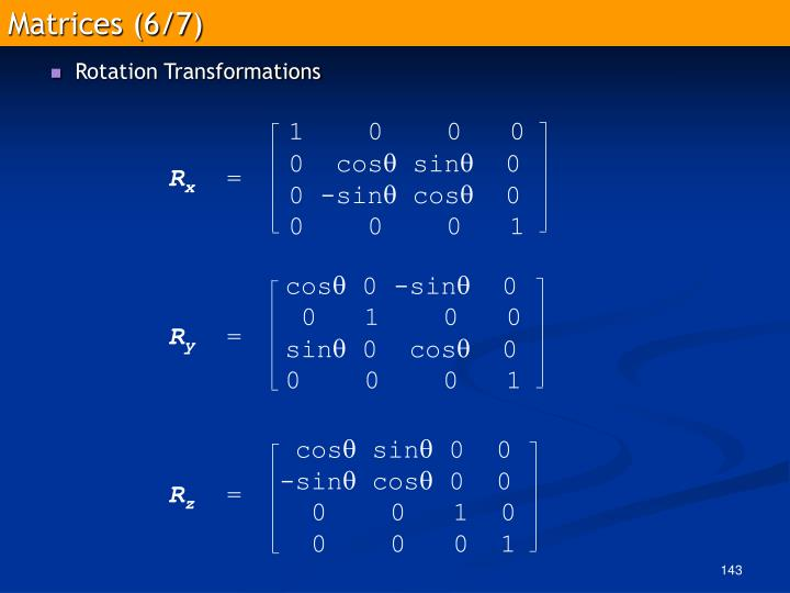 Matrices (6/7)
