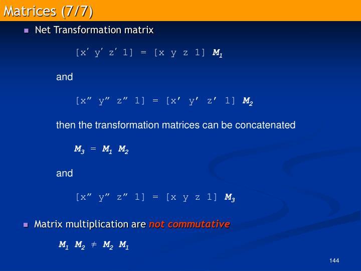 Matrices (7/7)