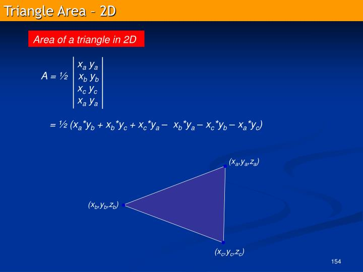 Triangle Area – 2D