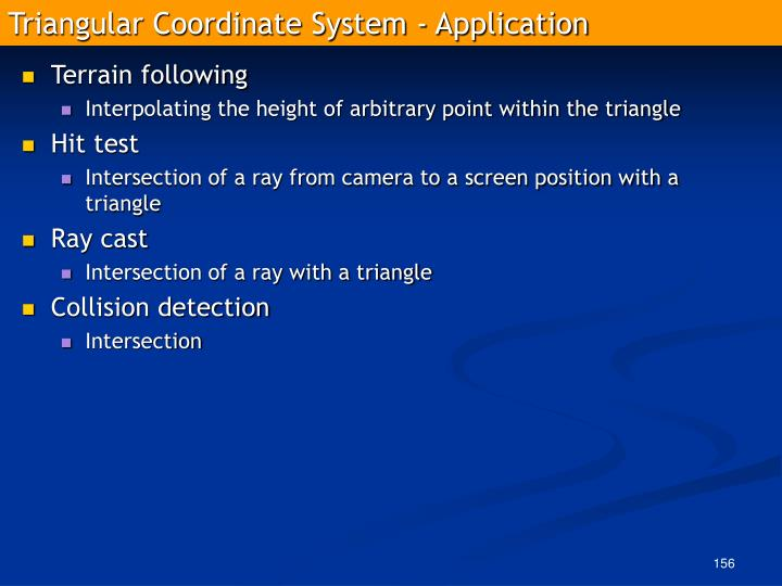Triangular Coordinate System - Application