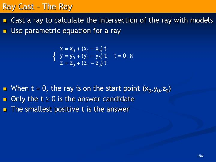 Ray Cast – The Ray