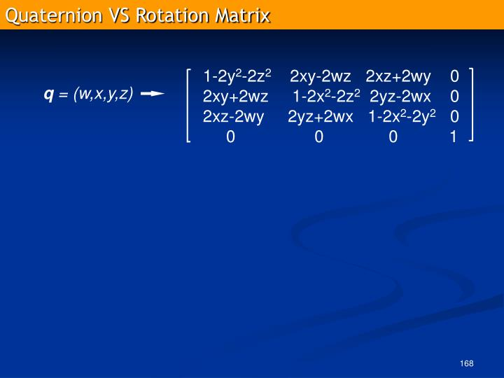 Quaternion VS Rotation Matrix