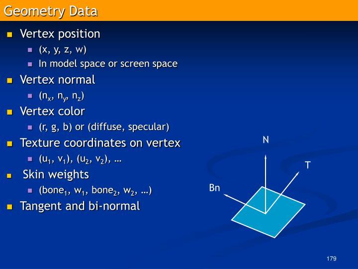 Geometry Data