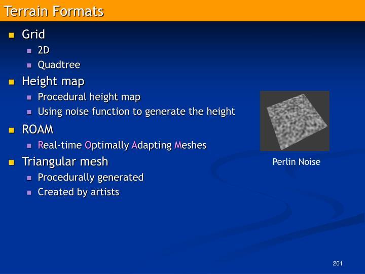 Terrain Formats