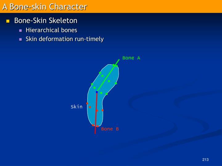 A Bone-skin Character