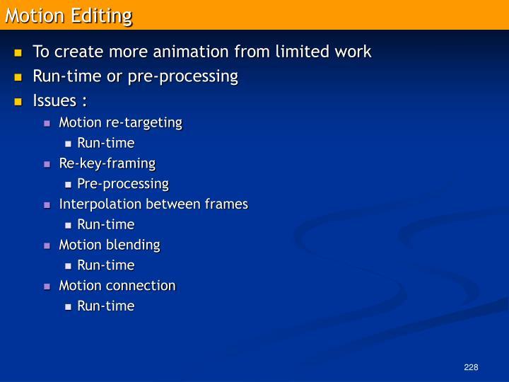 Motion Editing