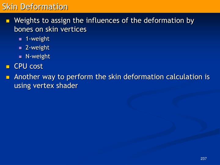Skin Deformation