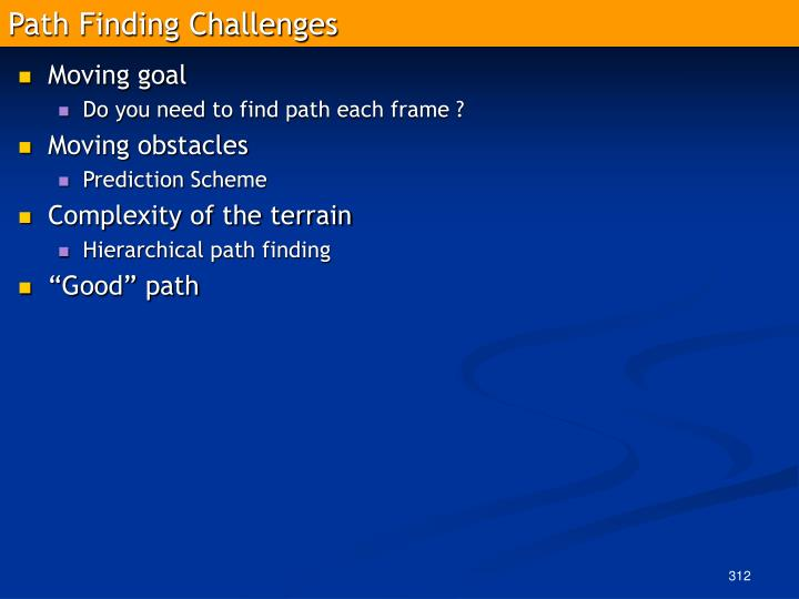 Path Finding Challenges