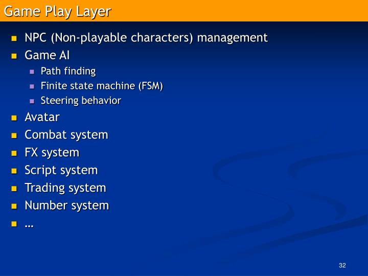 Game Play Layer