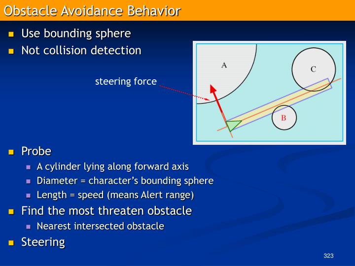 Obstacle Avoidance Behavior