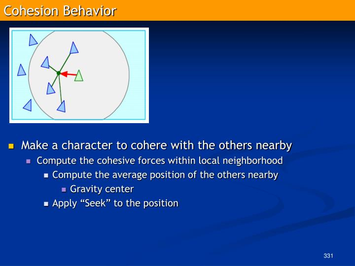 Cohesion Behavior