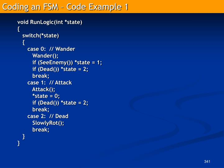 Coding an FSM – Code Example 1