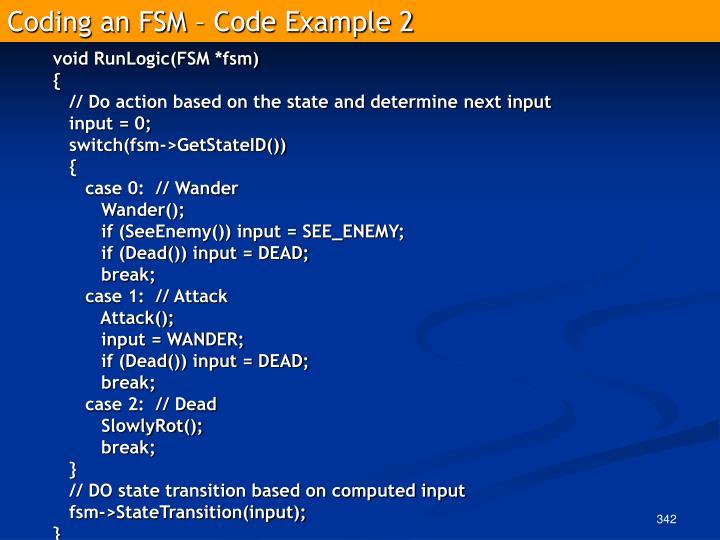 Coding an FSM – Code Example 2