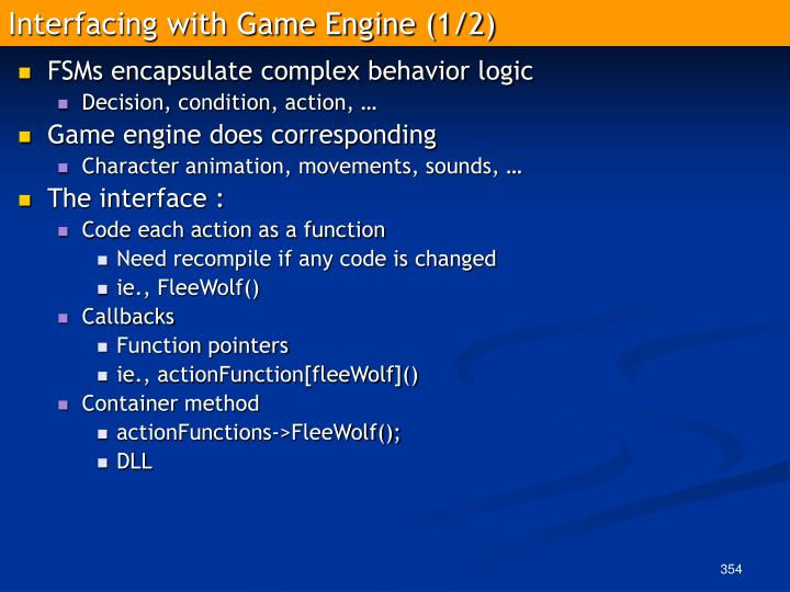 Interfacing with Game Engine (1/2)