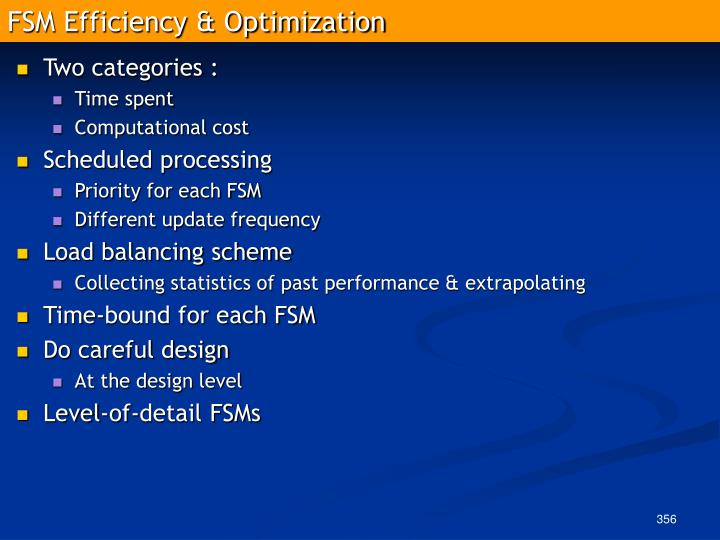 FSM Efficiency & Optimization