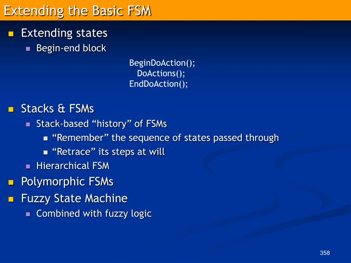 Extending the Basic FSM