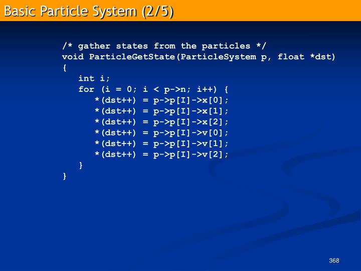 Basic Particle System (2/5)