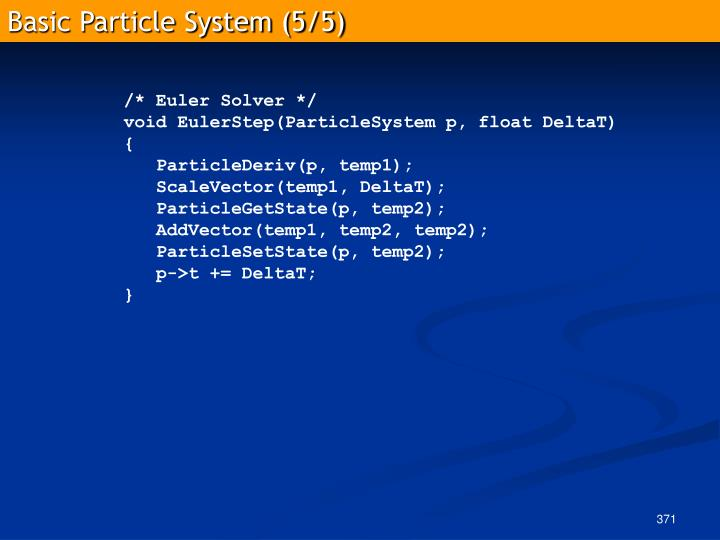 Basic Particle System (5/5)