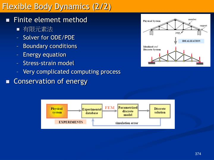 Flexible Body Dynamics (2/2)