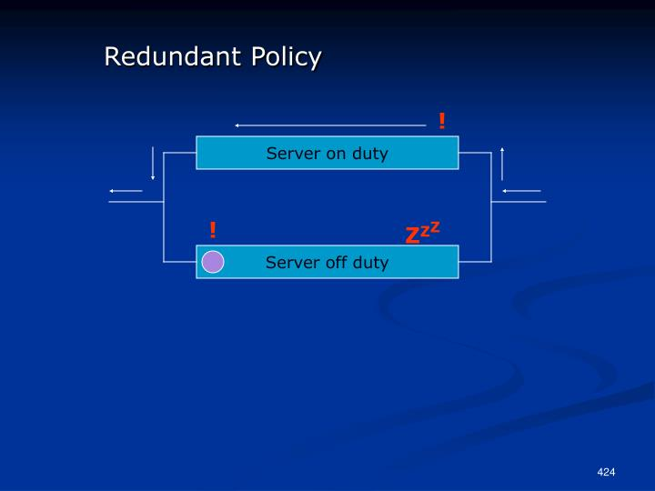 Redundant Policy