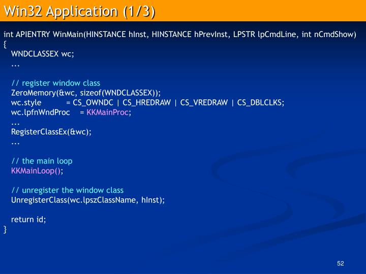 Win32 Application (1/3)
