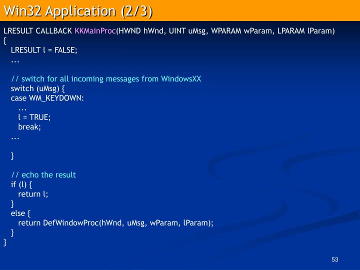 Win32 Application (2/3)