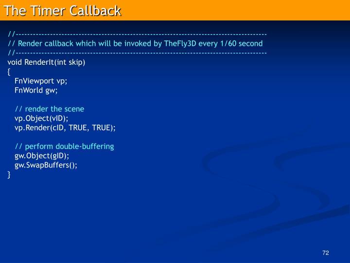 The Timer Callback