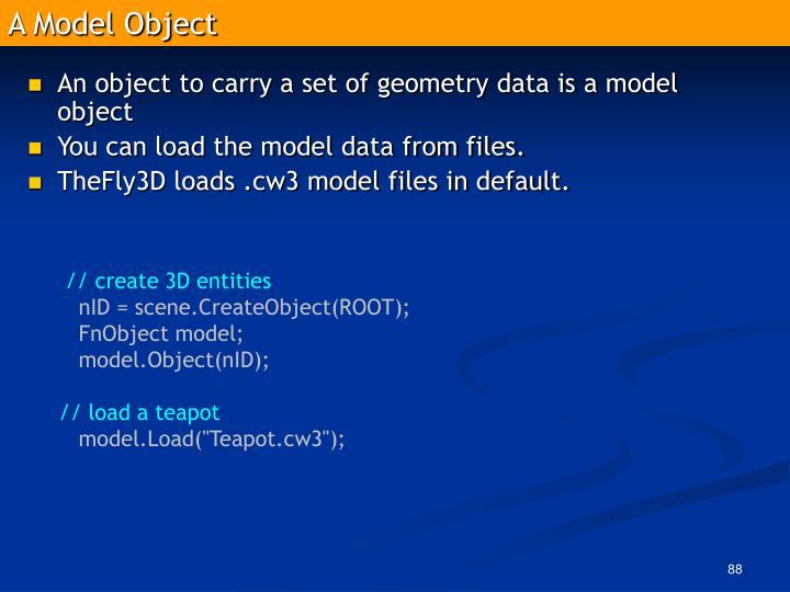 A Model Object