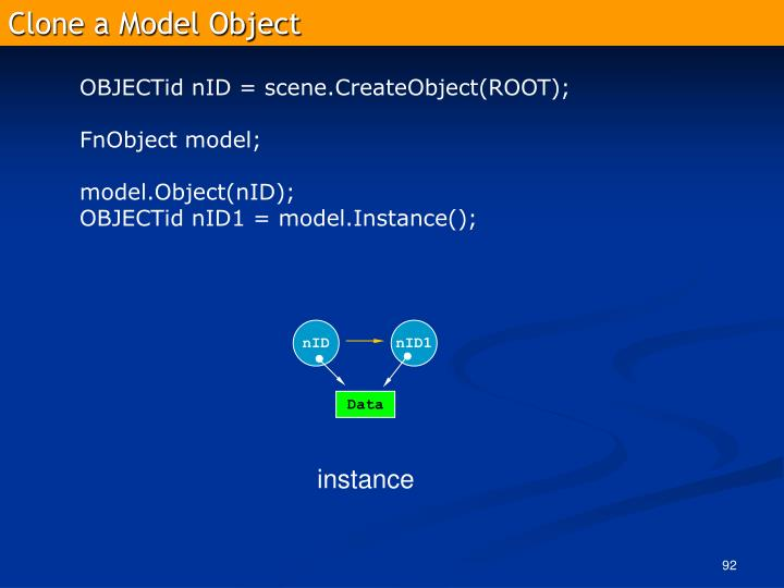 Clone a Model Object