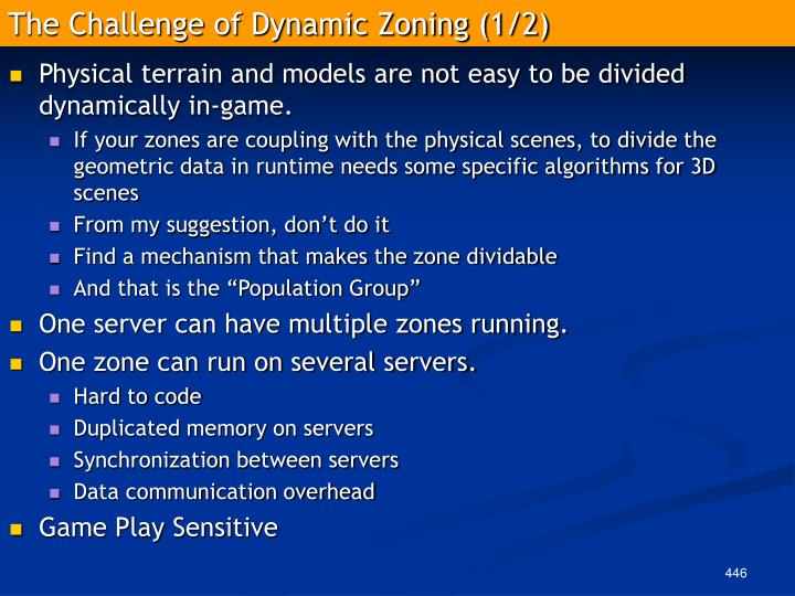 The Challenge of Dynamic Zoning (1/2)