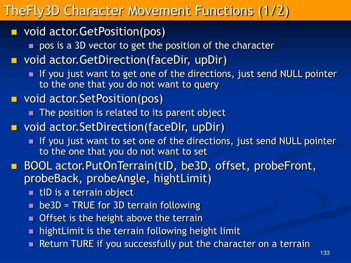 TheFly3D Character Movement Functions (1/2)