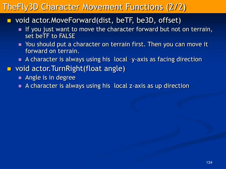 TheFly3D Character Movement Functions (2/2)