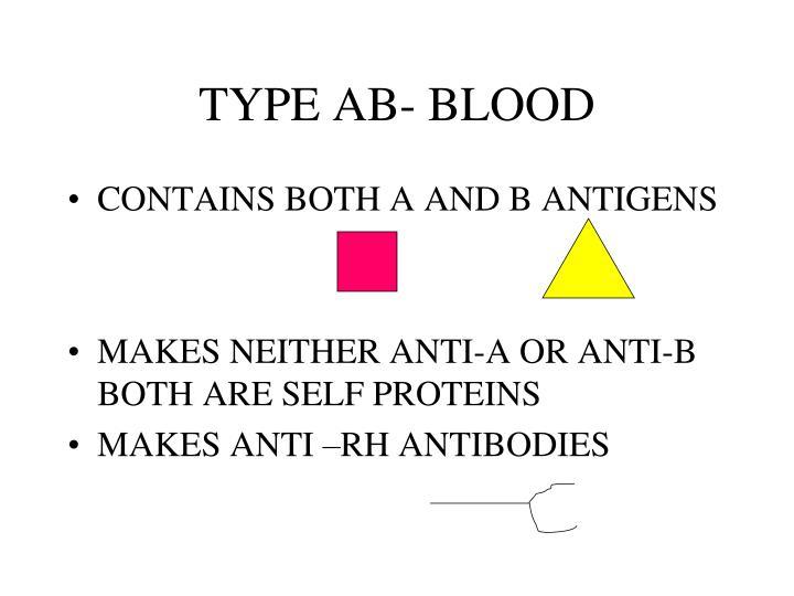 TYPE AB- BLOOD