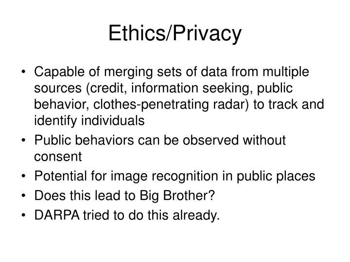Ethics/Privacy