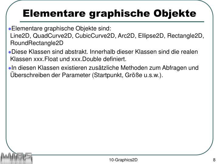 Elementare graphische Objekte