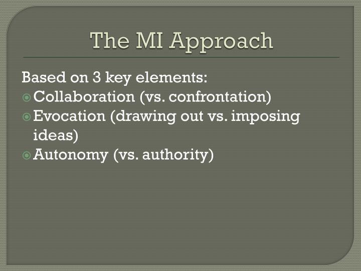 The MI Approach