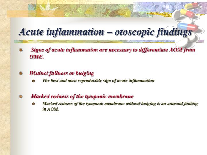 Acute inflammation –